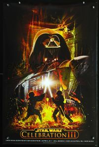 7x320 STAR WARS CELEBRATION III special 24x36 '05 cool artwork of Darth Vader!
