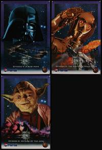 7x327 STAR WARS TRILOGY 3 special posters '96 cool images of Darth Vader, C-3PO, Yoda!