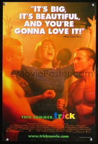 7x356 TRICK advance special poster '99 gay romance, Tori Spelling & barechested men!
