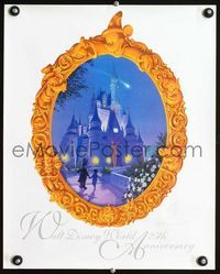 7x363 WALT DISNEY WORLD 25th ANNIVERSARY special poster '96 Mickey Mouse & Cinderella's castle!