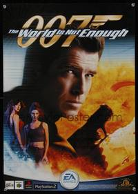 7x373 WORLD IS NOT ENOUGH special poster '99 Pierce Brosnan as James Bond, from the video game!