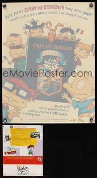 7x042 RUGRATS PASSPORT TO PARIS SWEEPSTAKES static cling poster '00 artwork of the Rugrats!