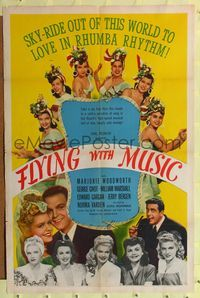 8h371 FLYING WITH MUSIC 1sh '42 sky-ride out of this world to love in rhumba rhythm, Hal Roach!
