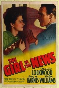 8h408 GIRL IN THE NEWS 1sh '40 directed by Carol Reed, Margaret Lockwood is acquitted for murder!