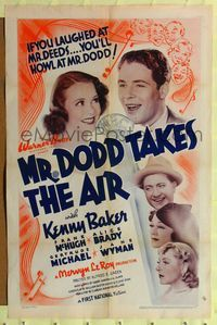 8h665 MR. DODD TAKES THE AIR 1sh '37 if you laughed at Mr. Deeds, you'll howl at Mr. Dodd!