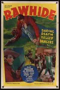 8h767 RAWHIDE 1sh R40s baseball legend Lou Gehrig & Smith Ballew daring Death Valley dangers!