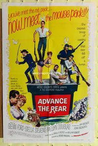 8m012 ADVANCE TO THE REAR 1sh '64 art of Glenn Ford, sexy Stella Stevens & crazy cavalry!