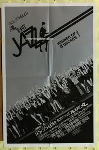8m021 ALL THAT JAZZ int'l 1sh '79 Roy Scheider & Jessica Lange star in Bob Fosse musical!