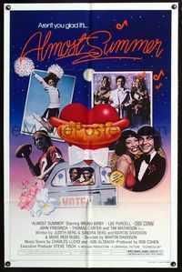 8m025 ALMOST SUMMER style B 1sh '78 Bruno Kirby, Lee Purcell, high school cheerleader sex!