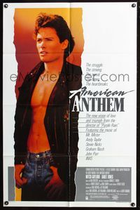 8m028 AMERICAN ANTHEM special music style 1sh '86 huge image of Mitchell Gaylord!