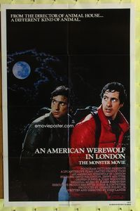 8m030 AMERICAN WEREWOLF IN LONDON 1sh '81 John Landis, David Naughton, Griffin Dunne!