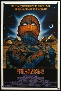 8m046 AWAKENING 1sh '80 Charlton Heston, Egypt, they thought they had buried her forever!