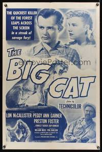 8m067 BIG CAT 1sh R50s Lon McCallister & a crazed mountain lion crouched to kill!