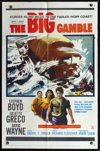 8m068 BIG GAMBLE 1sh '61 Stephen Boyd goes across three continents & 30,000 miles!