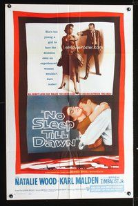 8m081 BOMBERS B-52 1sh '57 sexy Natalie Wood & Karl Malden, No Sleep Till Dawn!