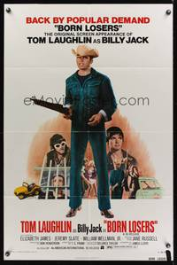 8m082 BORN LOSERS 1sh R74 Tom Laughlin directs and stars as Billy Jack, sexy motorcycle image!