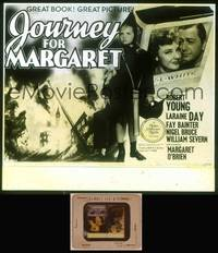 8v044 JOURNEY FOR MARGARET glass slide '42 Margaret O'Brien in her first starring role w/wacky hat!