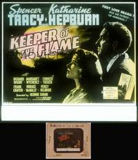 8v046 KEEPER OF THE FLAME glass slide '42 Tracy doesn't know if Katharine Hepburn is a murderess!