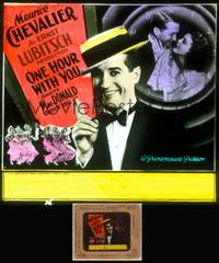 8v056 ONE HOUR WITH YOU glass slide '32 Maurice Chevalier, Jeanette MacDonald, Cukor & Lubitsch