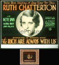8v059 RICH ARE ALWAYS WITH US glass slide '32 Chatterton torn between 2 men, early Bette Davis!