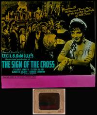 8v062 SIGN OF THE CROSS glass slide R44 Cecil B. DeMille epic, Fredric March, Elissa Landi
