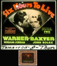 8v063 SIX HOURS TO LIVE glass slide '32 rare Dieterle sci-fi about man revived for just 6 hours!