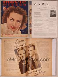 8v076 MOVIE MIRROR magazine April 1937, super close up of Joan Crawford by James Doolittle!