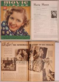8v080 MOVIE MIRROR magazine August 1937, super c/u of smiling Jean Arthur by James Doolittle!