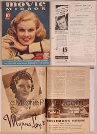 8v079 MOVIE MIRROR magazine July 1937, c/u smiling portrait of Jean Harlow by James Doolittle!