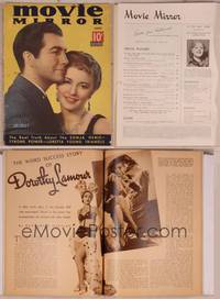 8v078 MOVIE MIRROR magazine June 1937, Robert Taylor & Barbara Stanwyck by James Doolittle!