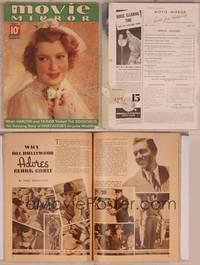 8v077 MOVIE MIRROR magazine May 1937, portrait of bride Jeanette MacDonald by James Doolittle!