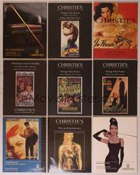 8v005 LOT OF CHRISTIE'S LONDON MOVIE POSTER AUCTION CATALOGS 9 books 1993-2003 Tony Nourmand's best!