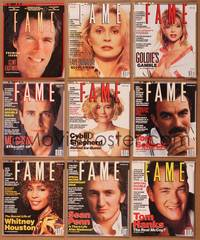 8v017 LOT OF FAME MAGAZINES 9 magazines Nov 1988 to Winter 1991, Clint, Faye, Goldie, Mel, Cybill