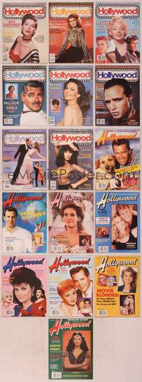 8v014 LOT OF HOLLYWOOD THEN AND NOW MAGAZINES 16 magazines May 1988 to Aug 1998, Ava, Rita, Marilyn