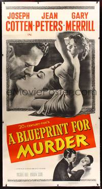 8y015 BLUEPRINT FOR MURDER linen 3sh '53 no one deserved to die more than sexy bad Jean Peters!