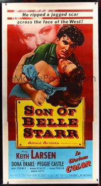 8y030 SON OF BELLE STARR linen 3sh '53 Larsen ripped a jagged scar across the face of the West!