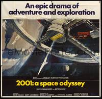 8y002 2001: A SPACE ODYSSEY 6sh '68 Stanley Kubrick classic, art of space wheel by Bob McCall!