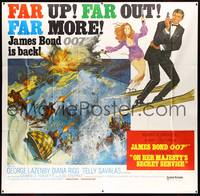 8y007 ON HER MAJESTY'S SECRET SERVICE int'l 6sh '70 George Lazenby's only appearance as James Bond!
