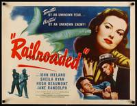 8y053 RAILROADED 1/2sh '47 Sheila Ryan faced every danger to prove a man's innocence!