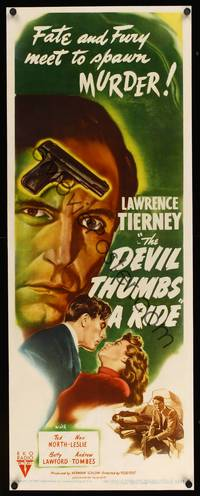 8y060 DEVIL THUMBS A RIDE insert '47 BAD Lawrence Tierney, fate and fury meet to spawn murder!