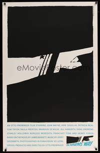 8y037 IN HARM'S WAY limited edition 25x39 silkscreen '65 classic Saul Bass pointing hand artwork!