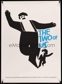 8y039 TWO OF US limited edition 26x40 silkscreen '67 wonderful art of Simon & boy by Saul Bass!