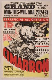 8y068 CIMARRON WC '31 Richard Dix & Irene Dunne in Best Picture Oscar-winning western!