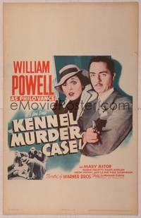 8y081 KENNEL MURDER CASE WC R42 great close up of William Powell as Philo Vance pointing gun!