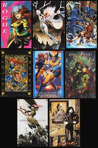 8z016 MARVEL COMICS CHARACTER ART POSTERS LOT 17 commercial posters '90s mostly X-Men & much more!