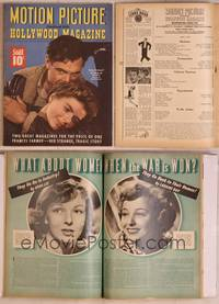 8z064 MOTION PICTURE magazine April 1943, Gary Cooper & Ingrid Bergman from For Whom the Bell Tolls