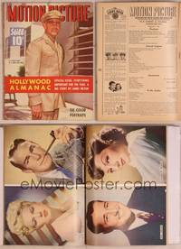 8z062 MOTION PICTURE magazine February 1943, Lieutenant Clark Gable in the U.S. Army Air Force!