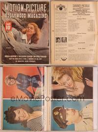 8z065 MOTION PICTURE magazine May 1943, portrait of sexy Ann Sheridan in giant fallen tree!