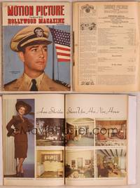 8z071 MOTION PICTURE magazine November 1943, c/u of Lieutentant Robert Taylor U.S. Navy by flag!