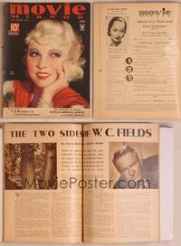 8z029 MOVIE MIRROR magazine April 1935, wonderful art of sexy Mae West by A. Mozert!